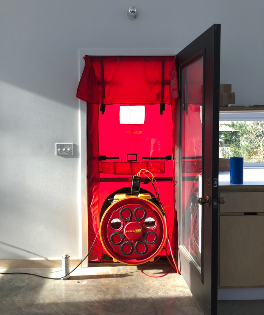 A blower door test is now required in many states. Source: Build Show Network